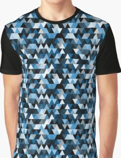 blue triangle repeat pattern Graphic T-Shirt