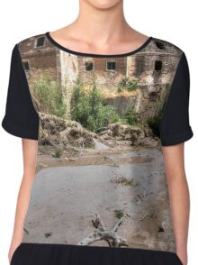 Abandoned, haunted house in Cordoba Chiffon Top