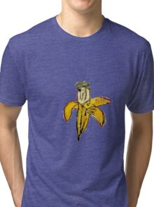 Basquiat banane jaune pourrie ouverte banana yellow 2 Tri-blend T-Shirt