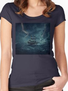 Ghost ship 4 Women's Fitted Scoop T-Shirt