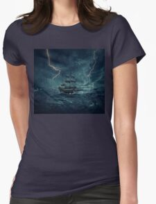 Ghost ship 4 Womens Fitted T-Shirt