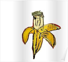 Basquiat banane jaune pourrie ouverte banana yellow 2 Poster