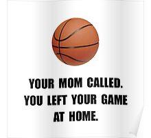 Basketball Game At Home Poster