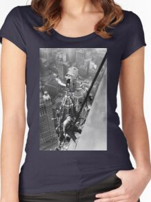 Vintage Photo of Workers in New York Women's Fitted Scoop T-Shirt
