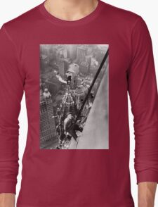 Vintage Photo of Workers in New York Long Sleeve T-Shirt