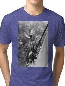 Vintage Photo of Workers in New York Tri-blend T-Shirt