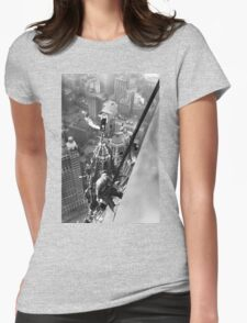 Vintage Photo of Workers in New York Womens Fitted T-Shirt