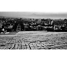 Tilt-shift & a city Photographic Print