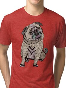 Ares The Hipster Pug Tri-blend T-Shirt