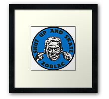 ZORLAC 80´S SKATEBOARDS (BLUE) Framed Print