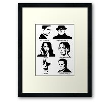 Person of Interest - Team Machine Framed Print