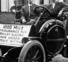 Thomas Edison's Car It'll never catch on Sticker