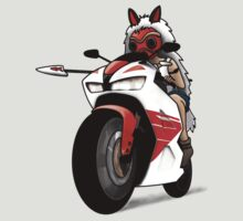 Biker Princess Mononoke by lightning-bolt