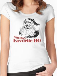 Santas Favorite HO Women's Fitted Scoop T-Shirt