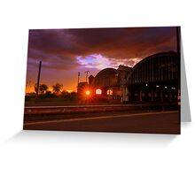 Sunset, Darlington Bank Top Railway Station, 11th June 2014 Greeting Card