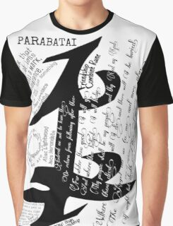 Parabatai Rune with quotes and Oath Graphic T-Shirt