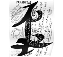 Parabatai Rune with quotes and Oath Poster