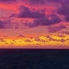 Panorama of Caribbean Sea Clouds at Dusk by Steve