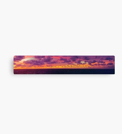 Panorama of Caribbean Sea Clouds at Dusk Canvas Print