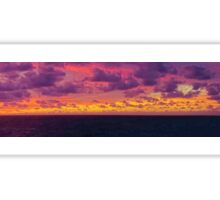 Panorama of Caribbean Sea Clouds at Dusk Sticker