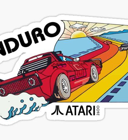 ATARI ENDURO RACING CARTRIDGE LABEL Sticker