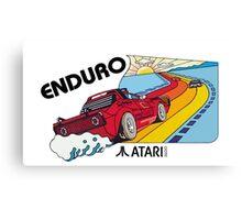 ATARI ENDURO RACING CARTRIDGE LABEL Canvas Print