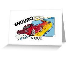 ATARI ENDURO RACING CARTRIDGE LABEL Greeting Card