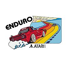 ATARI ENDURO RACING CARTRIDGE LABEL Photographic Print