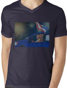 Fireworks Roadtrip Mens V-Neck T-Shirt