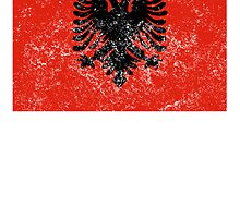 Distressed Albania Flag by kwg2200