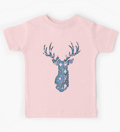 Watercolor Patterned Deer Design Kids Tee
