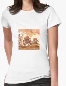 Rusty Robots I Womens Fitted T-Shirt