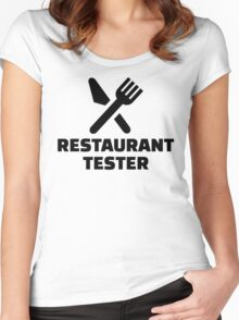Restaurant tester Women's Fitted Scoop T-Shirt