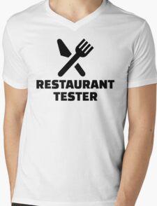Restaurant tester Mens V-Neck T-Shirt