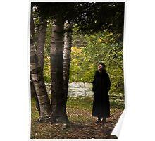 Beautiful Young Woman Looking at Tree Poster