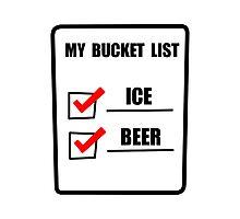Bucket List Beer Photographic Print