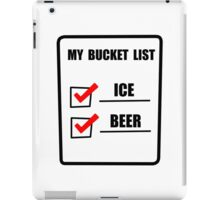 Bucket List Beer iPad Case/Skin