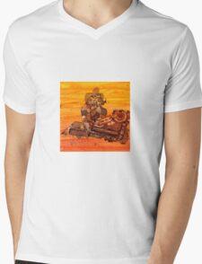 Rusty Robots III Mens V-Neck T-Shirt