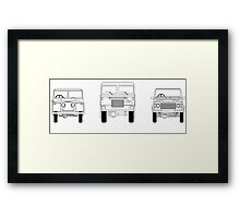 Land Rover - Evolution Framed Print