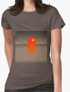 Graphical Elements of a Sunset Womens Fitted T-Shirt