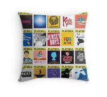 Playbill Collage Throw Pillow