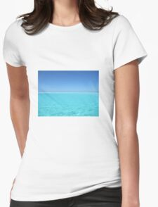 calm waters Womens Fitted T-Shirt