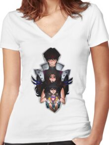 Undertale x Yugioh Women's Fitted V-Neck T-Shirt