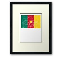 Distressed Cameroon Flag Framed Print