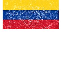 Distressed Colombia Flag by kwg2200