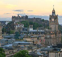 Edinburgh Castle from Calton Hill by Miles Gray