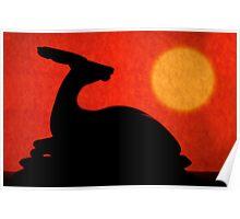 Impala Under African Sun Poster