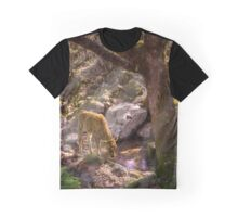 Baby cow drinking from mountain stream Graphic T-Shirt