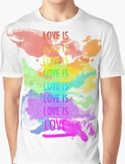 love is love rainbow splatter Graphic T-Shirt