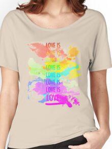 love is love rainbow splatter Women's Relaxed Fit T-Shirt